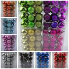 24PCS Christmas Tree Mixed Baubles Hanging Decoration Xmas Ornament Shiny Balls