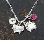 Movie Necklace, TV Charm, TV Pendant, Couch Charm, Couch Pendant, PERSONALIZED