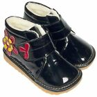 Girl's Children's Freycoo Ankle Boots Toddler Infant Black Patent & Fleece Inner