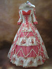 Royal Pink Beading Marie Antoinette Dress Vintage Baroque Rococo Wedding Dress