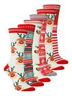 Sock Snob - Womens Fun Cute Novelty Christmas Xmas Winter Cotton Crew Socks 4-8