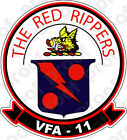 STICKER USN VFA 11 RED RIPPERS