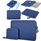 "Hot 2 PCS Notebook Laptop Sleeve Carry Bag Pouch Case For Macbook 11""13""15"" Blue"