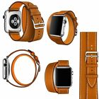 4 in 1 Leather Cuff Bracelet Long Watch Band Strap iWatch 38mm 42mm Apple