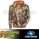 NEW 2017 PURE POLARIS MEN'S CAMOUFLAGE HOODIE - PURSUIT CAMO/BLAZE ORANGE