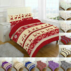THERMAL 100% BRUSHED COTTON FLANNELETTE QUILT DUVET COVER BED SET WARM COSY SOFT