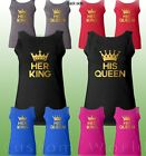 King and Queen Couple Tank Top Matching Couple Shirts Clothes His Hers Tank Top