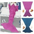 Mermaid Tail Knitted Crocheted Blankets Cocoon Warm Sofa Adults Cosy Lapghan