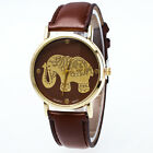Fashion Women Casual Elephant Watch New Leather Analog Quartz Cartoon Wristwatch