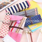Roll Up Girls Canvas Pencil Bag Stationery Wrap Brushes Makeup Case Pouch S3