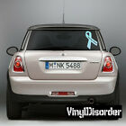 Prostate Cancer Awareness Ribbon  Vinyl Wall Decal or Car Sticker