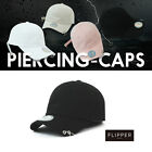 AC02 Womens Mens Flipper 2 Rings Pierced Long Tail Strapback Baseball Cap Hat