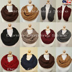 Внешний вид -  Women's Warm Winter Infinity Circle Cable Knit Cowl Neck Thick Scarf Shawl Wrap