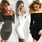 NEW  Women Bandage Bodycon Long Sleeve Off Shoulder Sexy Cocktail Dress