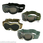 """SHATTERPROOF LIGHTWEIGHT THERMOPLASTIC INFANTRY GOGGLE - Padded, 1 5/8"""" Wide"""