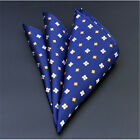 Gentleman Pocket Square Handkerchief Satin Solid Floral Paisley Hanky Party Gift