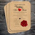 Personalised Vintage Postcard Style Wedding Invitations with envelopes