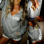 Women Long Sleeve Hoodie Blouse Shirt Sweatshirt Pullover Sweater Summer Tops