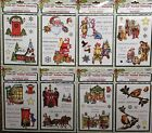 CRAFT UK UNMOUNTED RUBBER STAMP XMAS COLLECTION-SANTA,NATIVITY,ROBINS,VICTORIAN