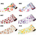 1 Roll Holographic Starry Nail Art Foil  Holo Sticker Flowers Design