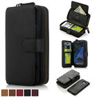 Genuine Leather Case Cover Zipper Card Holder Wallet For Samsung Galaxy S7 Edge