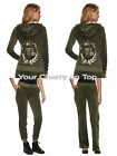JUICY COUTURE Embellished Velour Hoodie Jacket & Joggers or Bootcut  Green