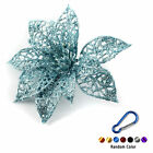 Christmas Flowers Xmas Tree Glitter Hollow Wedding Party Decor + Carabiner