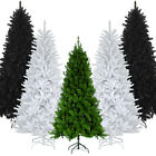 5/6/7/8FT GREEN BLACK WHITE ARTIFICIAL COLORADO CHRISTMAS PINE TREE METAL STAND