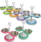 Multi-cat Raised Feeder with Stainless Steel Bowls NEW By Catswall Design