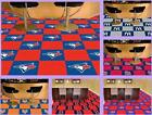 "MLB Licensed 18"" Modular Carpet Tiles 20 Tile Box Set Flooring Rug - Choose Team"