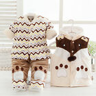 Baby Coat + Pants + Vest Newborn Kid Girl Boys Toddler Thickening Winter Clothes