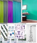 Fingey Colorful Fabric Shower Curtain Plain Solid Color and Designs with Hooks