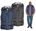 Mens D555 Heavy Quilted Padded Gilet With Hood Bodywarmer 2XL - 5XL