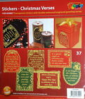 Transparent Stickers Gold/Silver Double Embossed Engraved Christmas Verses. #37