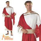 Adult Julius Caesar Deluxe Costume Mens Roman Greek Toga Fancy Dress Outfit New