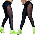 Womens New YOGA Sports Running Pants Slim Mesh Leggings Stretch Fitness Trousers