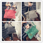 Fashion Women Rivet Messenger Bag Shoulder Bag Large Top Handle Mummy Package