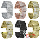 MENS ICED OUT JOE RODEO 10 ROW SIMULATED DIAMOND WHITE/GOLD/ROSE GOLD WATCH BAND