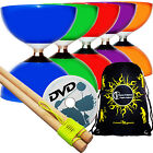 CAROUSEL Ball Bearing Diabolo Set + Wooden Handsticks, String, Tricks DVD & Bag