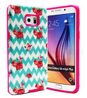For Samsung Galaxy S6 Edge Plus Slim Hybrid Hard Case Skin Phone Cover Rose
