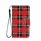 PU Leather Wallet Card Holder Flip Case Cover For Samsung Galaxy S6 EDGE Plaid