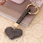 Fashion Love Heart Design Diamond Plated Shinning Keychain Key Ring Jewelry LO