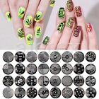 Multi-Style Nail Stamp Plate Tip Manicure Metal Template 72 Style Resuable Round