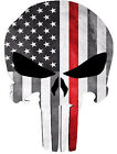 "4""x3"" Punisher Skull American Flag Sticker Decal Tactical Vinyl Label"