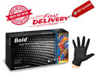 DISPOSABLE, AURELIA BOLD STRONG BLACK NITRILE GLOVES, LATEX FREE, SIZE OPTIONS