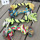 New Funny Puppy Dog Pet Play Toys Cotton Braided Bone Rope Chew Knot Size S-XL