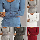 New Women's Ladies Long Sleeve Shirt Loose Blouse Lace Fashion Casual Tops