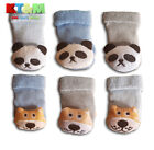 Baby Toddler Boy Cuddly Toy Rattle Animal 80% Cotton Socks 0-3m, 3-6m, 6-9m