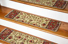 "Dean Premium Carpet Stair Treads - Classic Keshan Antique Beige 31""W"