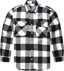 White Extra Heavyweight Brawny Buffalo Plaid Flannel Shirt